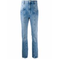 Isabel Marant Calça Jeans Com Detalhe De Costura Frontal - Azul