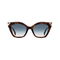 Fendi Óculos De Sol Iridia - Marrom