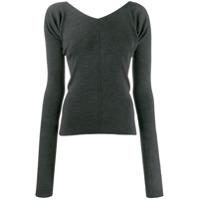 Mrz Ribbed Knit Sweater - Cinza