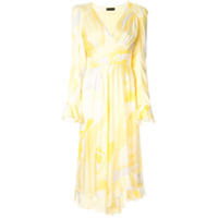 Stine Goya Vestido Freesia Com Estampa Abstrata - Amarelo