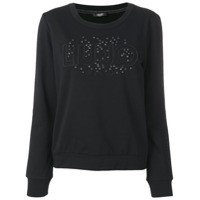 Liu Jo Black Logo Sweater - Preto
