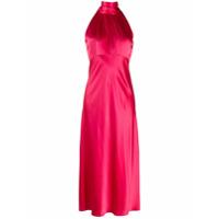 Saloni Vestido Midi Frente Única - Rosa