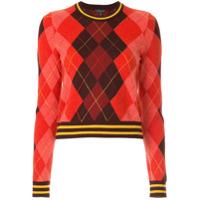 Rag & Bone Suéter Com Padronagem Xadrez - Vermelho