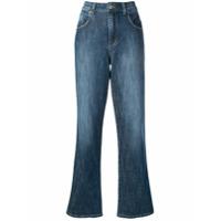 Gentry Portofino Calça Jeans Pantalona - Azul