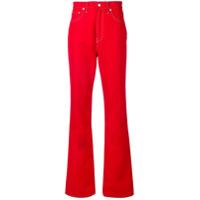 Helmut Lang Calça Jeans Pantalona - Vermelho