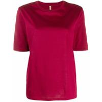 Indress Camiseta Decote Arredondado De Jersey - Vermelho