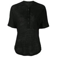 Joseph Camiseta Com Botões - Preto