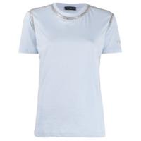 Frankie Morello Rhinestone-Trimmed Crew-Neck T-Shirt - Azul