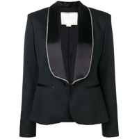 Redemption Crystal Embellished Lapel And Cuffs Blazer - Preto