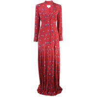Rebecca De Ravenel Vestido Longo Com Estampa Paisley - Vermelho