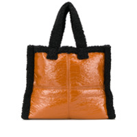 Stand Studio Faux Shearling Tote Bag - Marrom