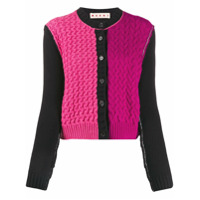 Marni Cardigan De Tricô Color Block - Rosa