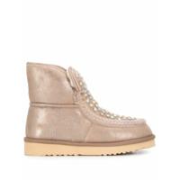 Tosca Blu Flat Embellished Boots - Neutro