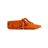 Brother Vellies Mocassim Com Bordado - Laranja