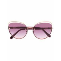 Bvlgari Óculos De Sol Gatinho - Roxo