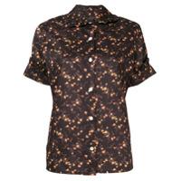 Vivienne Westwood Anglomania Camisa Mangas Curtas Com Estampa Floral - Preto