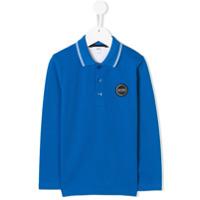 Boss Kids Camisa Polo Com Patch De Logo - Azul