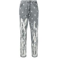 Misbhv Calça Jeans Com Bordado - Cinza