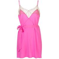 Kiki De Montparnasse Vestido Le Shock Com Acabamento De Renda - Rosa