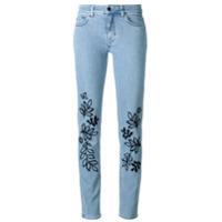Victoria Victoria Beckham Calça Jeans Skinny Com Bordado - Azul