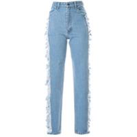 Pony Stone Calça Jeans Reta Destroyed - Azul