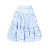 Ck Calvin Klein Saia Gingham - Azul