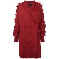 Iil7 Vestido Mangas Longas - Vermelho