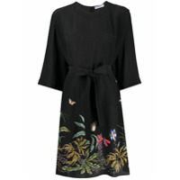 Givenchy Vestido Midi Com Bordado Floral - Preto