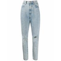 Slvrlake Calça Jeans Beatnik Com Detalhe Destroyed - Azul