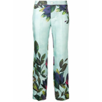 F.r.s For Restless Sleepers Calça Cropped Com Estampa Floral - Azul