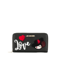Love Moschino Carteira 'love' - Preto