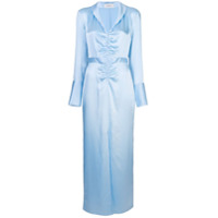 Arias Vestido Franzido - Azul