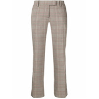 Roqa Checked Cropped Trousers - Neutro