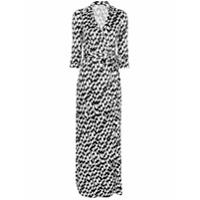Diane Von Furstenberg Vestido Envelope Longo Estampado - Branco