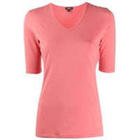Aspesi Camiseta Slim Decote Em V - Rosa