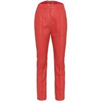 Pushbutton Calça Slim Cropped - Vermelho