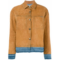 Golden Goose Deluxe Brand Jaqueta 'bernhardt' De Couro - Marrom