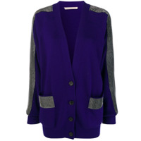 Christopher Kane Cardigan Com Cristais - Roxo