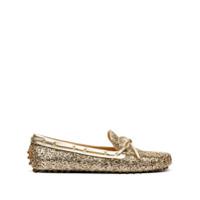 Car Shoe Mocassim Com Efeito Metálico - Dourado