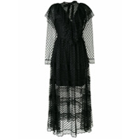 Milla Milla Vestido Translúcido Com Poás - Preto