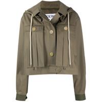 Loewe Jaqueta Militar Com Capuz - Verde