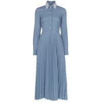 Anouki Check Open-Back Shirt Dress - Azul