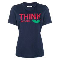 Isabel Marant Étoile Think Slogan T-Shirt - Azul