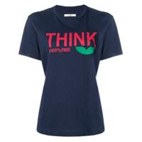 Isabel Marant Étoile Think Slogan T-Shirt - Azul