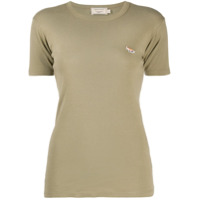 Maison Kitsuné Camiseta Slim Com Logo Bordado - Verde
