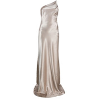 Galvan Roxy One-Shoulder Evening Dress - Dourado