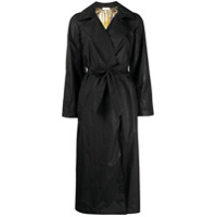 Sandro Paris Trench Coat Metálico - Preto