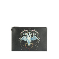 Givenchy Clutch Com Estampa De Pássaro - Preto
