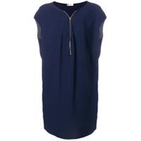 Lanvin Vestido Com Zíper - Azul