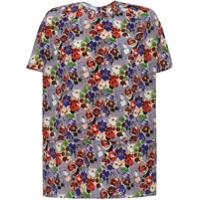 Prada Blusa Estampada De Seda - Rosa